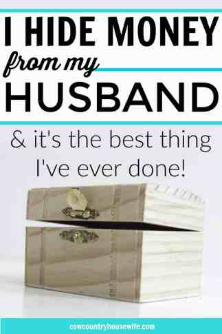 If you have a husband who is a spender, this is for you! Her husband is a compulsive spender and her tips here are amazing! Her husband was overspending, but she was able to turn around her family's finances. Her husband sounds just like mine and I can't wait to try these out for myself and for my family! I Hide Money From My Husband (And That Isn't Going to Change).