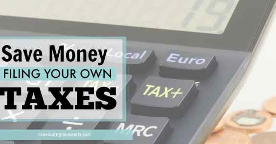 How i save money filing my own taxes solutioingenieria Image collections
