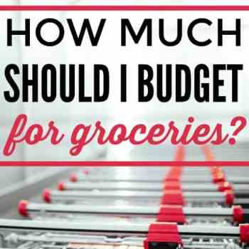 How Much Should I Budget for Groceries?