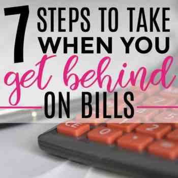 What Do You Do When You Get Behind on Bills