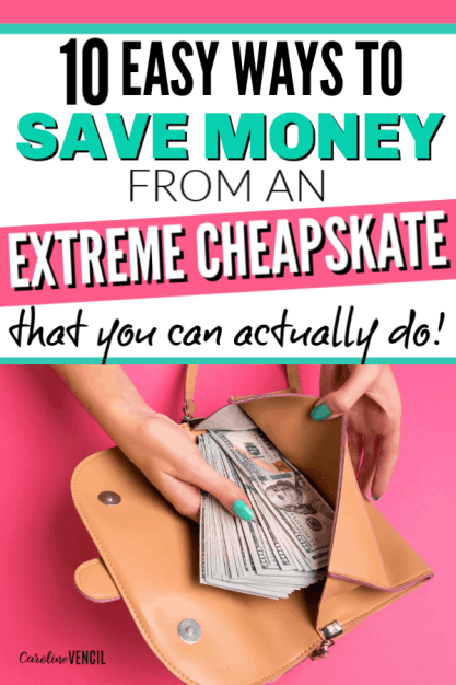 Looking to save money and live frugal from a money saving pro. These are awesome hacks and tips from an extreme cheapskate. Learn how to start saving money when you're overwhelmed, suck at saving, or don't know where to start. #frugal #savemoney #money #savingmoney #frugality