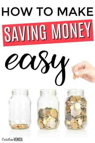 This is so great! I never thought about saving money like this! She makes it sound so easy and doable! I can't wait to get started saving money the easy way. Saving more money tips and ideas. How to start saving money. Starting a savings account. How to save money when you feel like you can't. How to save money when you suck at saving money. Save more money tips. Saving money ideas. How to Make Saving Money Easy