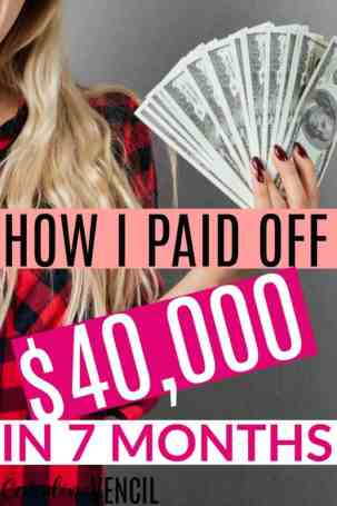 This is amazing! She paid off all of her debt – $40,000!!! – in 7 months! This is the best debt-free story I've ever read. Her tips are actual things that will work for me. I love this blog for money saving ideas and tips. She's always got the best ideas for regular people just like me. These are great tips to make extra money too! How I Paid off $40,000 of Debt in 7 months
