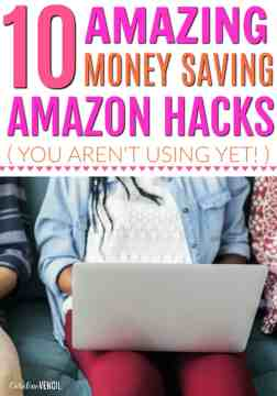 These are AMAZING! I never knew there were so many ways to save on Amazon! It's so much more than just saving money with Amazon Prime. These are the best money saving amazon hacks out there. You are wasting money on Amazon if you aren't using these! The greatest ways to save money shopping online. Easy ways to save money shopping online on Amazon. Ways to save on Amazon.