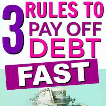 The 3 Rules to Paying Off Debt Fast