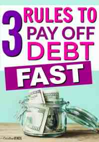 how to pay off debt fast with no money