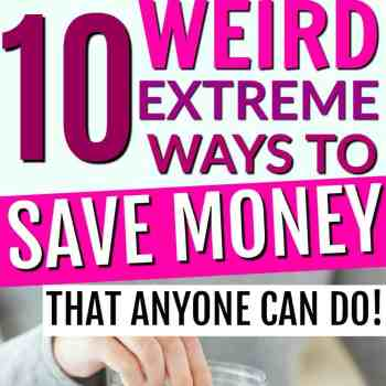 These are such great ideas!! You NEED to check out these crazy ways to save money! But they aren't too weird. They are all really great ideas for places that you'd never thought of to save money! Great frugal living tips and tricks to try out for yourself today! 10 Weird Ways to Save Money, Interesting Ways To Save Money