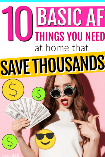 Looking for stupid easy ways to save money and live frugally for beginners? Sometimes spending a little bit means saving a LOT! Check out some of these super easy money saving purchases you can make that will really add up to big savings fast and easily. Simple tips and tricks for money saving ideas that actually work when living on a tight budget.