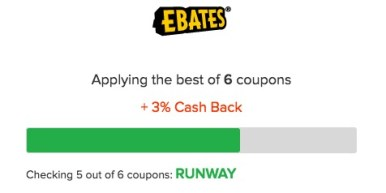 Ebates applying coupons