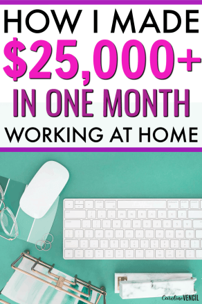Find out exactly what it takes to make $25,000+ working at home as a busy mom by blogging. Making money at home as a blogger is a great way for busy moms to make money at home. Learn tips and tricks to see how a pro blogger makes a full time income and how you can start blogging for yourself today⁄