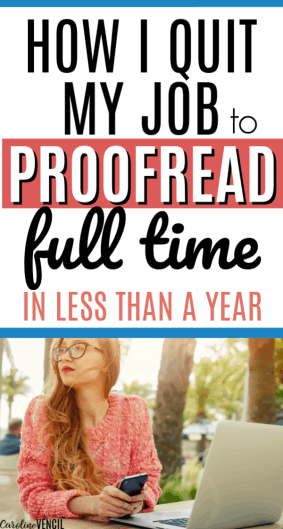 Moms can make money working from home even when thye're busy with kids. Proofreading is a great and easy way for busy people to make money from home full time or as a side hustle. Work at home ideas for busy people that are legit and earn money at home. How to quit your job and work at home as a proofreader.