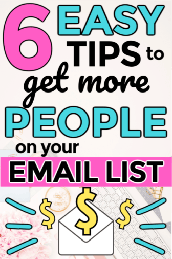 The best tips for using and growing an email list as a blogger who needs to start using email marketing. Perfect for beginner bloggers who want to learn how to make money blogging for a profit. Start a blog and use email to increase your income. How to use email as a blogger when you're beginning or just starting out.