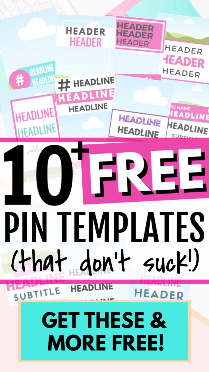 20 + FREE Canva Pinterest Templates