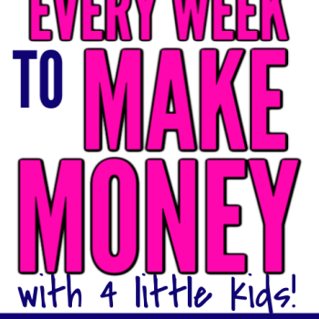 5 Easy Things I do to Make Money with Little Kids at home. Super fast and easy ways to work at home or from home as a busy stay at home mom with young kids and babies. Perfect side hustle to make some extra money without a degree or a job. These are awesome tips and tricks to make earning an income from home easy and fun.