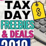 Tax Day Freebies 2019