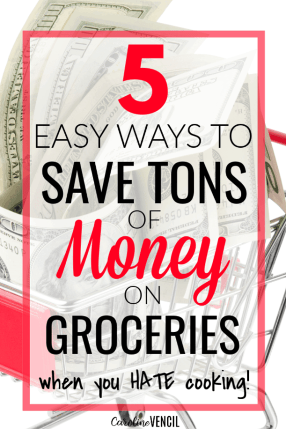 5 Tips to Get Your Food Spending Under Control – How to save money on your groceries and stick to a budget when you grocery shop. Simple and easy ways to start living with a grocery budget and still eat delicious food. Perfect for busy and stressed out moms working with a tight budget, low income or just one income!