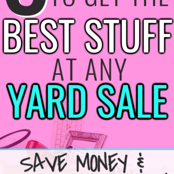 Best Tips for Garage Sales to Get the Best Deals. Awesome and easy tips and tricks to get the most out of yard sale shopping. Simple ways to save a lot of money by shopping frugally at garage sales. Frugal living is easy when you know how to shop smart.