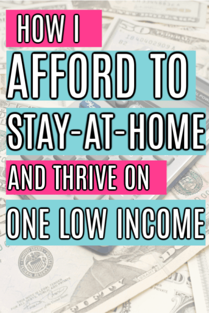 Single income family tips for stay at home moms. How to survive on one income as a big family. The best personal finance budgeting advice for single income families. How to become one single low income family on a tight budget. A one income family budget for a big family.