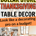 The Best Dollar Store Thanksgiving Table Settings on a Budget
