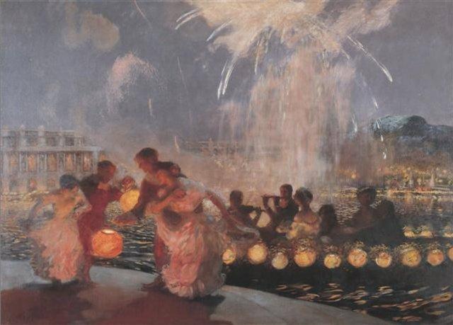 Gaston_La_Touche_-_The_Joyous_Festival_ca._1906 But First Coffee