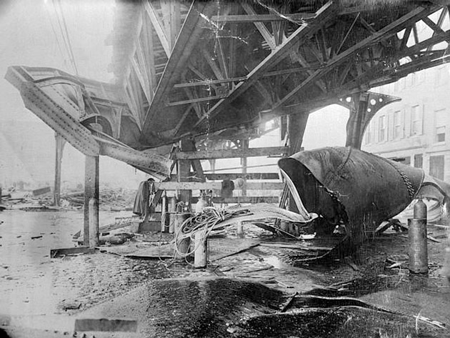Boston_1919_molasses_disaster_-_el_train_structure Author's Blog Highlighting Historical
