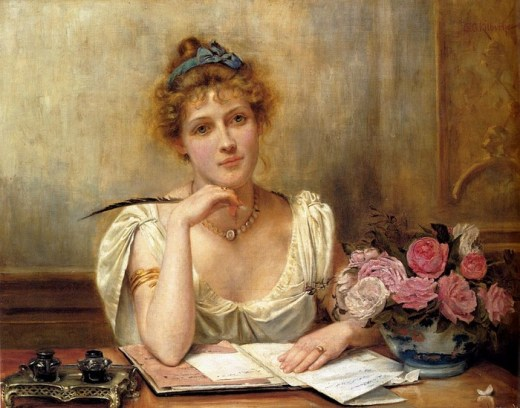 woman-with-quill-Kilburne_George_Goodwin_Penning_A_Letter Author's Blog