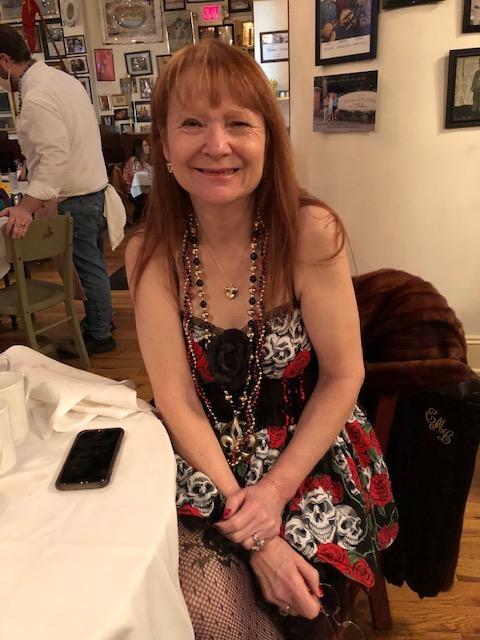 Susan-at-Mardi-Gras Highlighting History