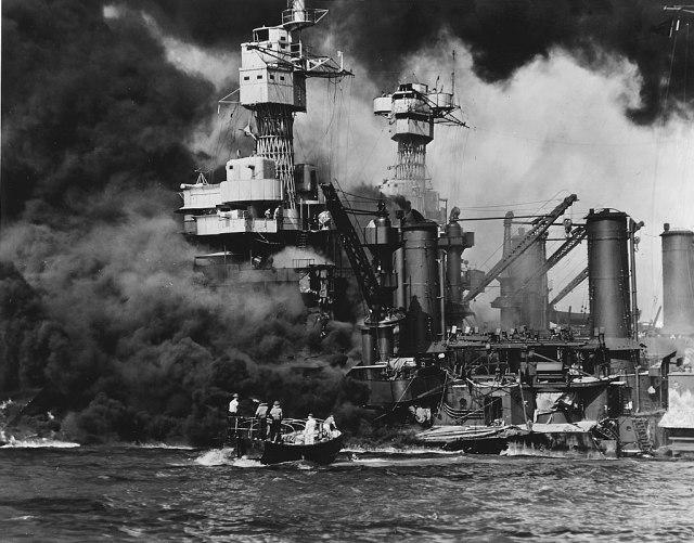 1024px-USS_West_Virgina_BB-48_burning_at_Pearl_Harbor_1941 Highlighting Historical Romance