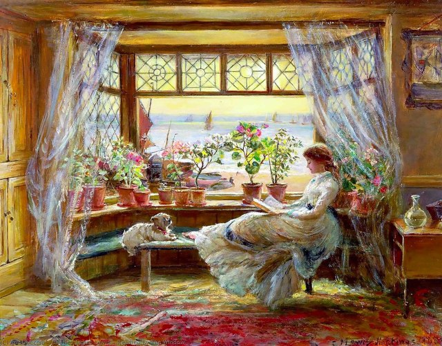 1532px-Charles-james-lewis-reading-by-the-window-1024x802 But First Coffee