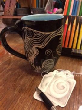 My Raven mug by Carolyn Bernard Young