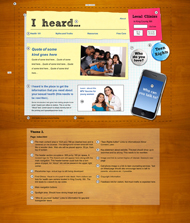 Visual Design for iheard.org