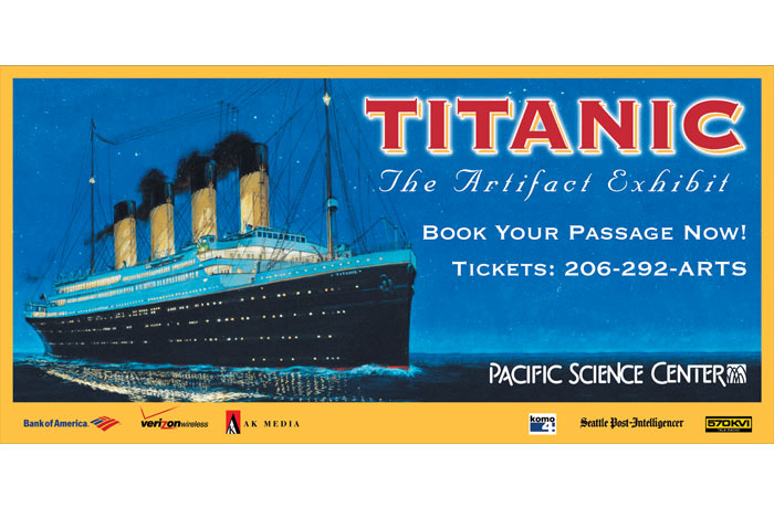 Titanic: The Artifact Exhibit billboard