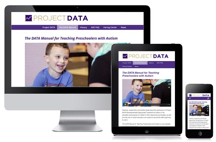 Project DATA website