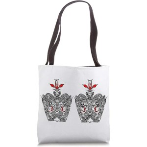 designer tote bags inspired by nature regal two crowns design available on amazon