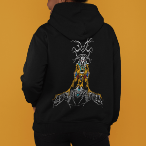 Image of a hoodie showing fantasy figure hoodie available for sale on Amazon