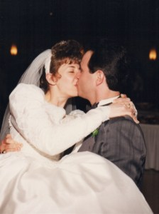 Our wedding day, 1997.
