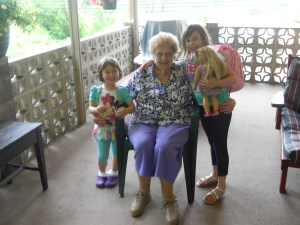 Grandma and the girls.