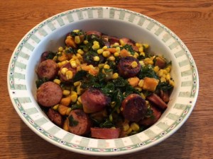 Collards Sweet Potato Pot