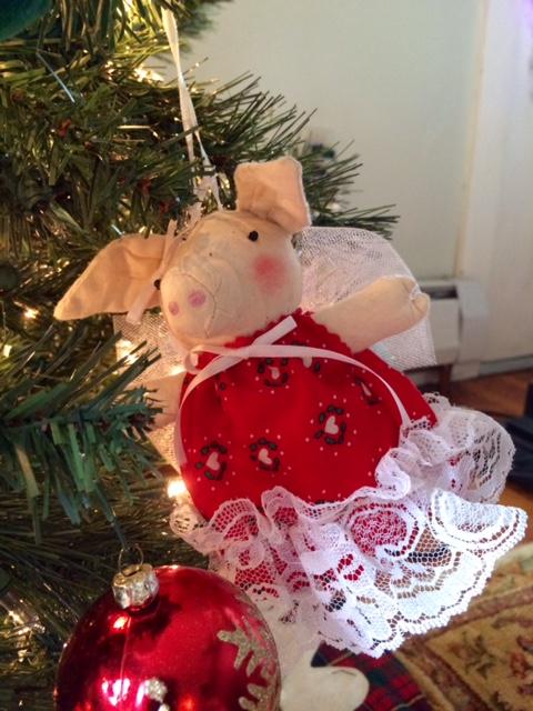 Angel pig ornament