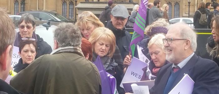 WASPI/IWD Protest