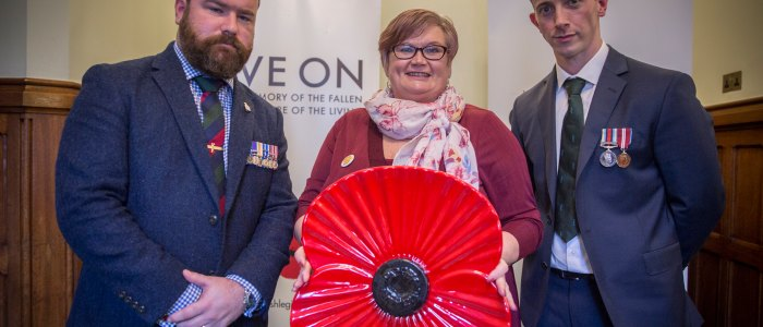 Carolyn Harris MP Meets Area Manager from The Royal British Legion