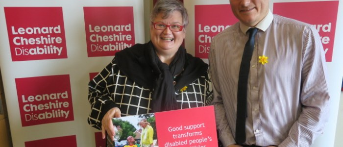 Swansea East MP Shows Support For Disabled People Across Wales On St David's Day