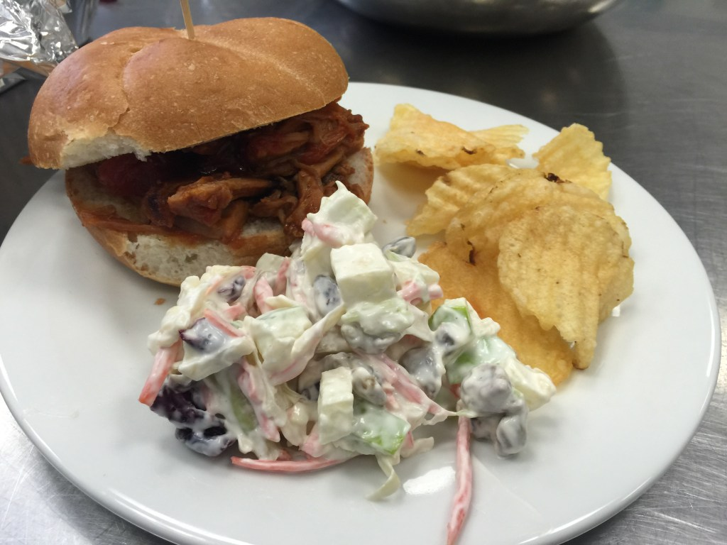 Pulled pork with Coleslaw on a Brioche Bun