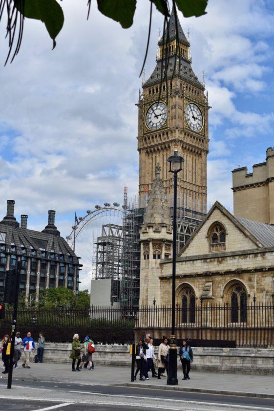 Big Ben with London Eye
