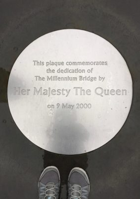 Plaque at Millennium Bridge, London