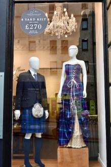 Tartan shop on the Royal Mile