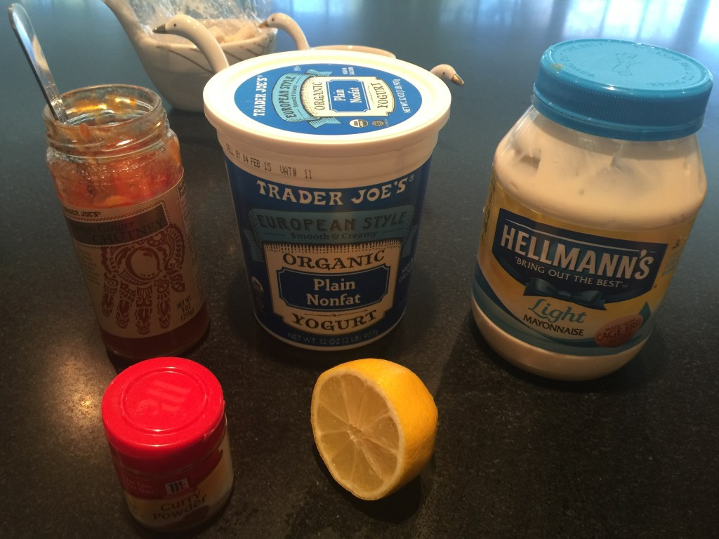 Ingredients for Coronation chicken