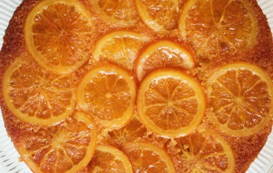 Upside Down Orange and Polenta Cake