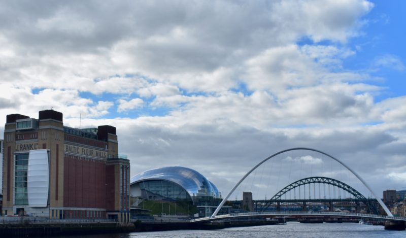 The bridges alone the Tyne in Newcastle