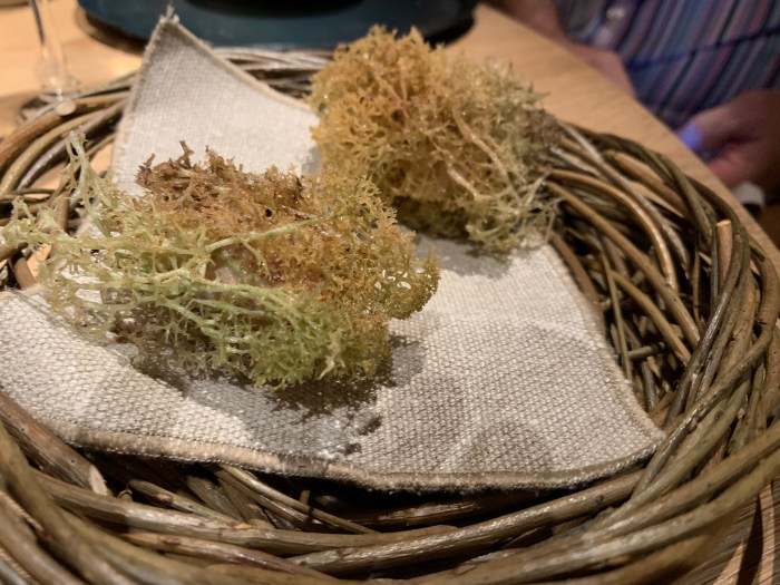 Sweetbreads wrapped in Reindeer Moss